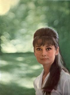 Audrey Hepburn | timeless beauty | iconic | beehive | green | hollywood starlet
