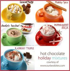 Oh Hot Chocolate.....how I love thee....let me count the ways....that I can make you!