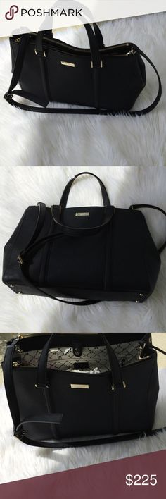 Kate spade medium black bag Beautiful black Kate spade large bag with long strap. Got it has a gift - only carried it once .i love crossbody and small bags. This is a beautiful bag kate spade Bags Shoulder Bags