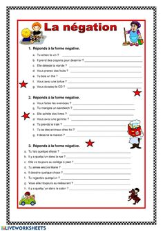 French Flashcards, French Worksheets, French Teaching Resources, Teaching French, French Language Lessons, French Lessons, French Grammar Exercises, French Prepositions, Gcse French