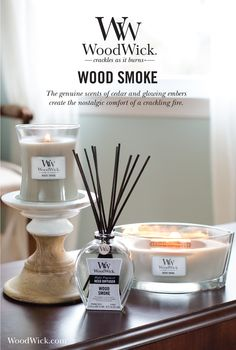 WOOD SMOKE: The genuine scents of cedar & glowing embers create the…