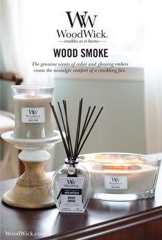 WOOD SMOKE: The genuine scents of cedar & glowing embers create the…