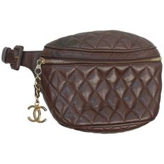 Chanel Vintage Brown Quilted Lambskin Fanny Pack - GHW - Early 1980's 1