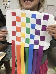 Elements of the Art Room: 1st grade Rainbow Cloud Weavings