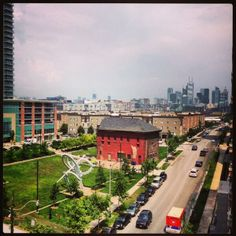 View of the park in Liberty Village