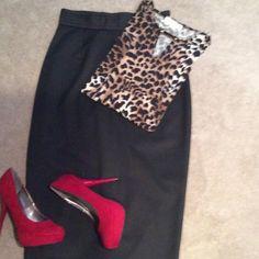 Black pencil skirt Black pencil skirt . Zipper in the back . No pockets. Skirts Pencil