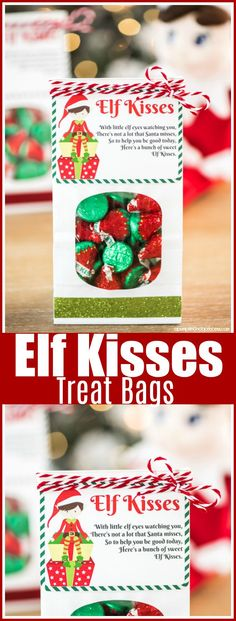Elf Kisses Treat Bag