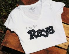 Let's Go Rays Tampa Bay Rays Baseball Shirt by EmmerlusDesigns, $24.00