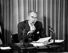 Dean Acheson (1949-53) U.S. Secretary of State Dean Acheson speaks from the State Department on Nov. 29, 1950 in Washington. (Source: U.S. Department Of State)