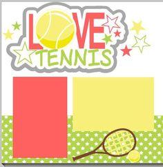 tennis scrapbook layout | NEW!! My Love Tennis 2-page 12 X 12 Scrapbook Layout