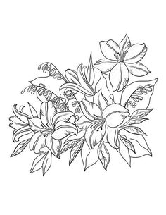 Flower Adult Colouring Book