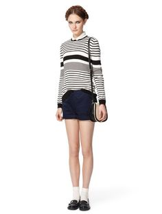 I can't resist sailor sweaters. Jason Wu for Target Long sleeve sailor sweater in black/cream stripes: $32.99