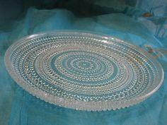 Arabia Iittala Kastehelmi Low Dinner Plate Dewdrops – Toikka – clear glass – Finnish Scandinavian Design Finland vintage 1950s Mid Century von everglaze auf Etsy