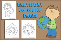 Earth Day Coloring Pages (from Kids Activities Blog)