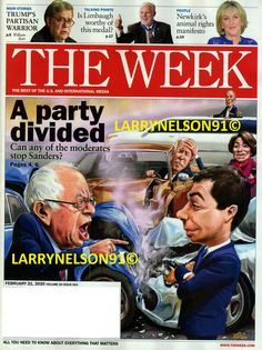 THE WEEK MAGAZINE FEBRUARY 21 2020 BARRY SANDERS TRUMP LIMBAUGH BARR NEWKIRK USA The Week Magazine, Talking Points, Cover Pics, Magazines, February, 21st, Journals