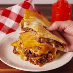 Swapping out a tortilla for a bun in these sloppy Joes is pure genius.