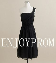 Sheath/Column One-shoulder Chiffon knee-Length Bridesmaid/Evening/Prom Dress$76.00