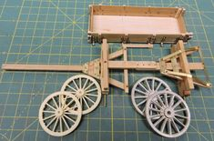 Model is built with commercial available wheels.