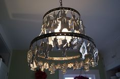 Cookie Cutter chandelier .....I REALLY want to make one of these!! I have enough cookie cutters to do it! LOL