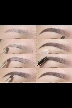 Eyebrow tutorial.