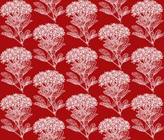 Winter Floral - Choisya fabric by hauteideas on Spoonflower - custom fabric