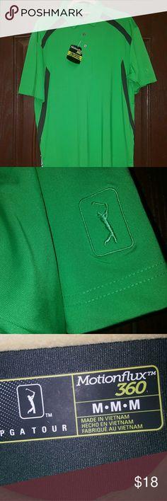 NWT PGA motion flex polo Green PGA polo Shirts Polos