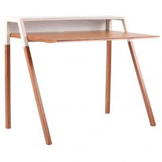 design desk #wood #white