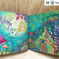 Lindíssimo By @kokokat8  #johannabasford #florestaencantada #enchantedforest…