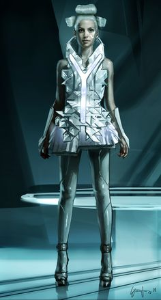"""Concept art of a club patron by Steve Jung from """"Tron: Legacy"""" (2010)."""