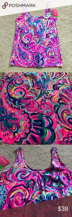 psychedelic sunshine Lilly pulitzer top Psychedelic sunshine Lilly pulitzer top NWT Lilly Pulitzer Tops Tank Tops