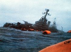 The Belgrano sinks in the Falklands War between England and Argentina. This is mentioned in the book. The war was just to see who was the strongest.