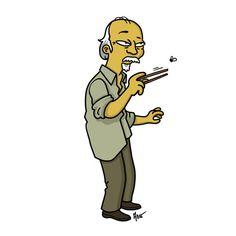 "Mr. Miyagi from ""Karate Kid"" / Simpsonized by ADN"