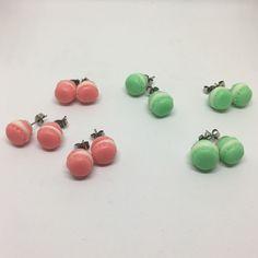 Orecchini con macarons piccoli