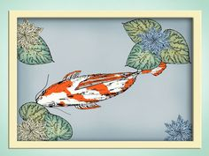 koi art by TheMerryRaven on etsy.