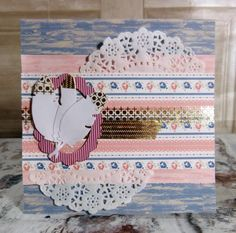Simply Creative Shabby Chic Feather Card by design team member Katie