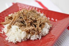 Kalua Pork ... I think I'd have to make a sauce for this ... or use some Teriyaki sauce