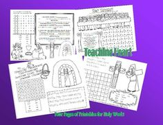I haven't looked at these left but I may need them :) activities sheets FREE Holy Thursday, Good Friday, Easter Sunday Activity Sheets! Holy Week Activities, Sunday School Activities, Easter Activities, Sunday School Crafts, Free Activities, Catholic Kids, Kids Church, Catholic Crafts, Religion Activities