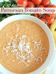 Creamy Parmesan Tomato Soup - Together as Family