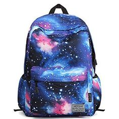 766588ad1959 Casual Galaxy Backpack Zipper Bags