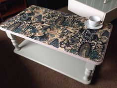 Unique Statement Tattoo Inspired Decoupage Upcycled Coffee Table  By Taylor Made Http://www.facebook.com/taylormadexox