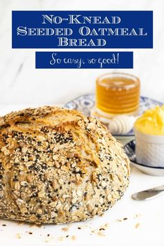 No-Knead Seeded Oatmeal Bread Give this No-Knead Seeded Oatmeal Bread a try! It's easy, versatile and so… delicious! The hands-on time is minimal and the fabulous results are maximum! No Knead Bread, Yeast Bread, Bread Baking, Knead Bread Recipe, Healthy Bread Recipes, Baking Recipes, Easy Recipes, Baking Tips, Artisan Bread Recipes