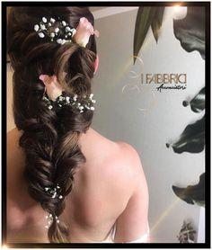#codiceamore #IFabbriciacconciatori Hair Styles, Earrings, Wedding, Beauty, Jewelry, Fashion, Mariage, Beleza, Jewellery Making