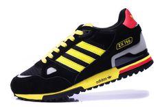 sports shoes 3bb85 1d6cc Soldes cliquez ici et acheter Homme Adidas Originals ZX750 Noir Jaune Rose  En Ligne Adidas Shoes