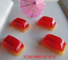 Big Mama's Home Kitchen: Cocktail Friday ~ Tequila Sunrise Jelly Shots