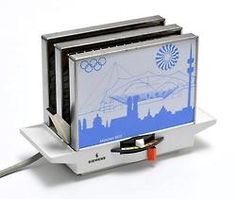 Toaster for the Olympic Games 1972 in Munich, graphic design by Otl Aicher. Made by Siemens, Germany.
