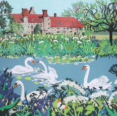 'The Priory' By Paper Cut Artist Fiona Scott-Wilson. Blank Art Cards By Green Pebble. www.greenpebble.co.uk: