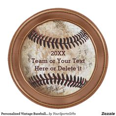 Personalized Vintage Baseball Paper Plates 9 Inch CLICK: http://www.zazzle.com/personalized_vintage_baseball_paper_plates_9_inch_paper_plate-256481392082065685?rf=238012603407381242 See some of our featured vintage baseball party supplies for birthday, team parties and more: http://yoursportsgifts.com/customizable-vintage-baseball-party-supplies