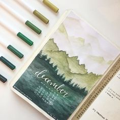 Bullet journal monthly cover spread by ig Absolutely gorgeous artwork! Bullet journal monthly cover spread by ig Absolutely gorgeous artwork! Bullet Journal Spread, My Journal, Journal Covers, Bullet Journal Inspiration, Journal Pages, Bullet Journals, Journal Ideas, December Bullet Journal, Art Journals