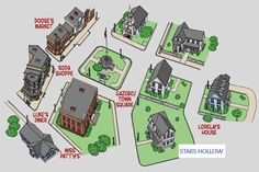 Map of Stars Hollow Gilmore Girls