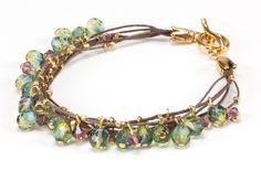 Jewelry Making tutorial: Vineyard Drop Bracelet